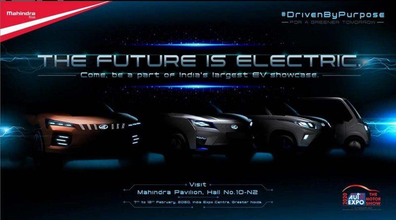 Mahindra teases EV lineup for the 2020 Auto Expo India