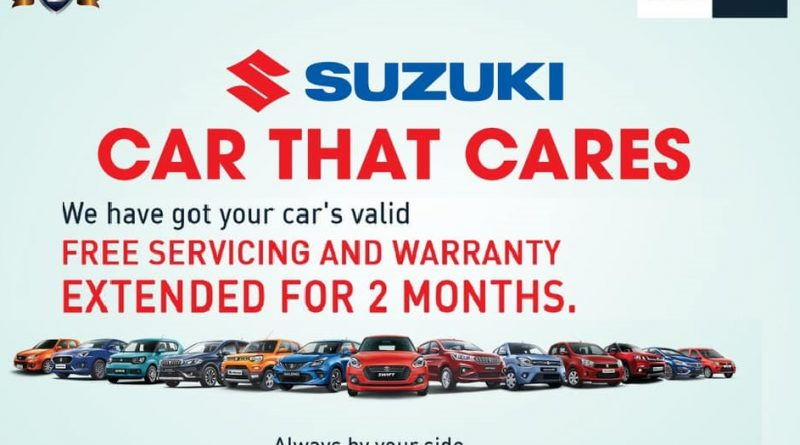 Suzuki announces for free services & an extended warranty with 7 days check-up camp
