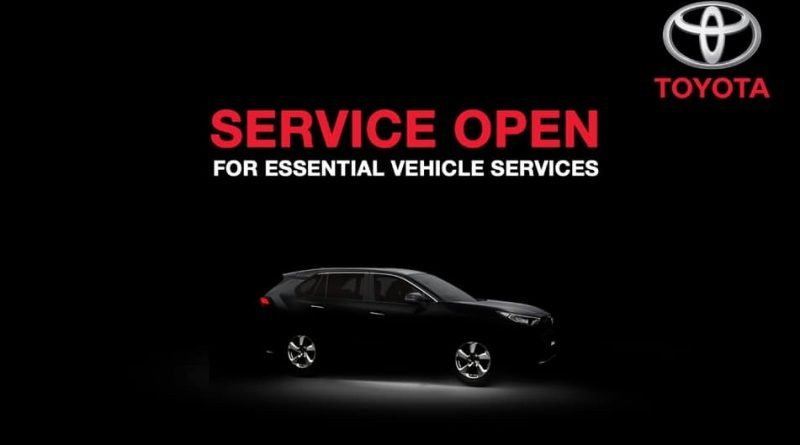 Toyota announces service open for essential vehicles service
