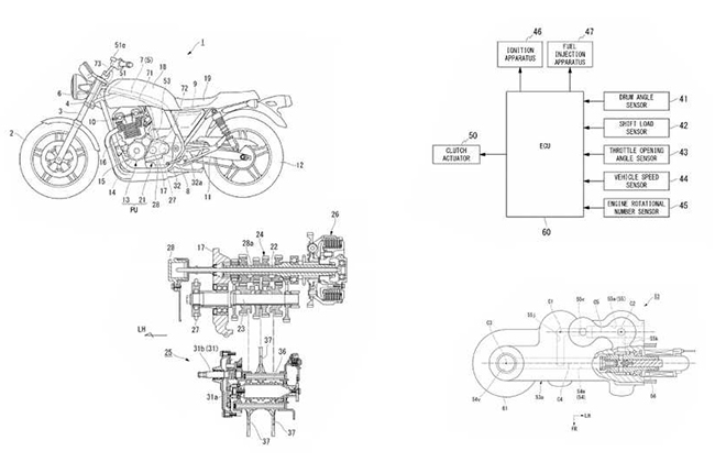 New Patent reveals Honda's new semi-automatic gearbox