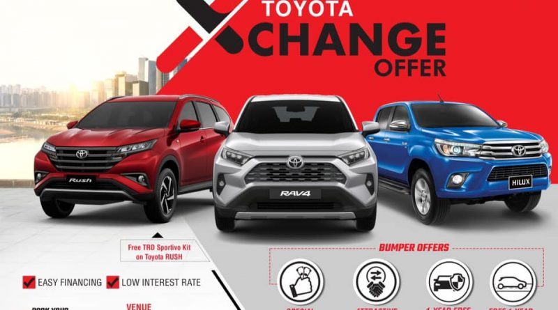 Toyota XChange Offer starts today