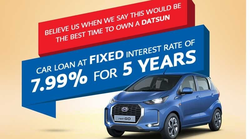 Nabil Bank Auto Loan Service for Datsun Car: Fixed  Interest Rate of 7.99%