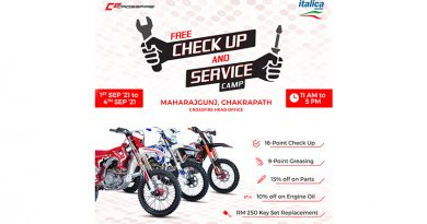 Crossfire and ItalicaMoto free checkup and service camp announced
